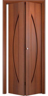 Складная дверь С-06 итальянский орех ПГ