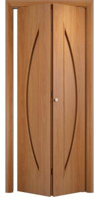 Складная дверь С-06 миланский орех ПГ