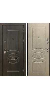Входная дверь SD PROF-36 АТЛАНТ дуб мореный/дуб бежевый