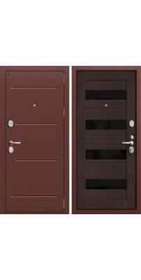 Входная металлическая дверь T2-223 Wenge Veralinga/Black Star