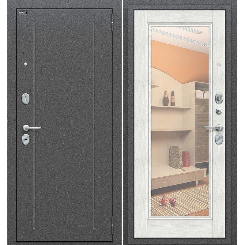 Входная дверь Флэш антик серебро/bianco veralinga