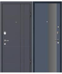 Входная дверь М16  Profildoors 5E антрацит\серебро.мат. лак