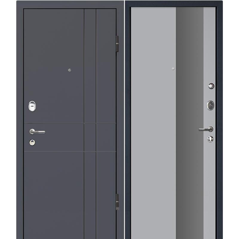 Входная дверь М16  Profildoors 5E манхеттен\серебро мат. лак