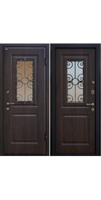 Входная дверь М32  темный орех