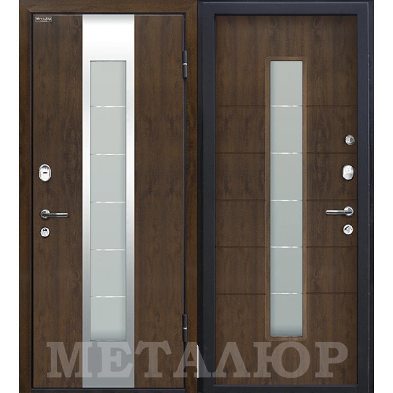 Входная дверь М34  темный орех