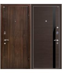 Входная дверь М6 Profildoors 6z венге кроскут/черный лак