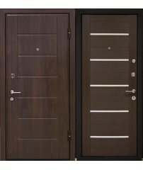 Входная дверь М7 Profildoors 7x венге/белый,черный лак