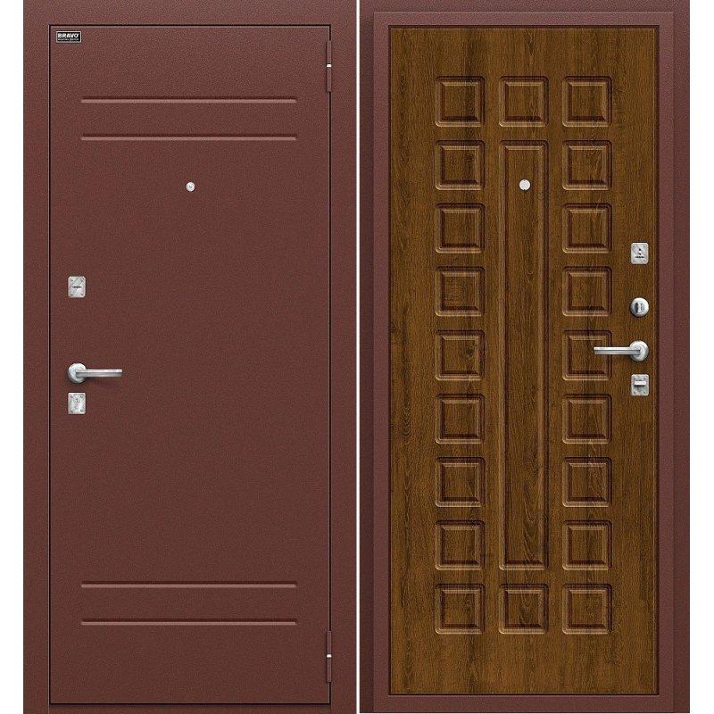 Входная дверь Нова антик медь/французский дуб
