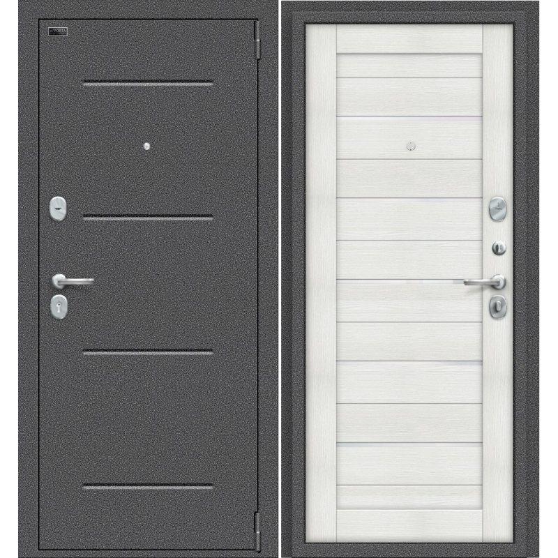 Входная дверь Porta S 104.П22 антик серебро/bianco veralinga