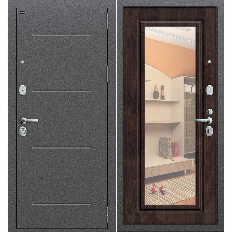 Входная дверь Р2-216 антик серебро/П-28 (Темная Вишня)