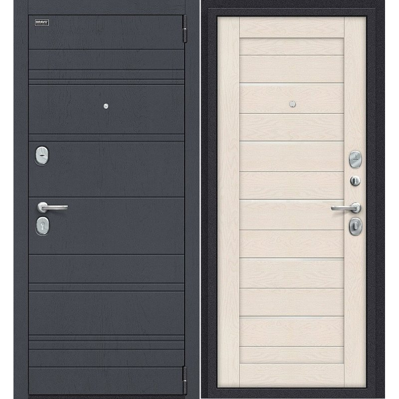 Входная дверь Сканди graphite wood/cappuccino softwood