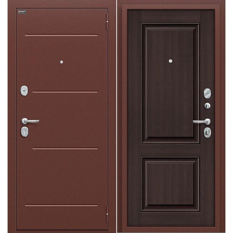 Входная дверь Стиль антик медь/wenge veralinga