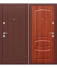 Входная дверь Стройгост 7-2 антик медь/М-11 (ИталОрех)